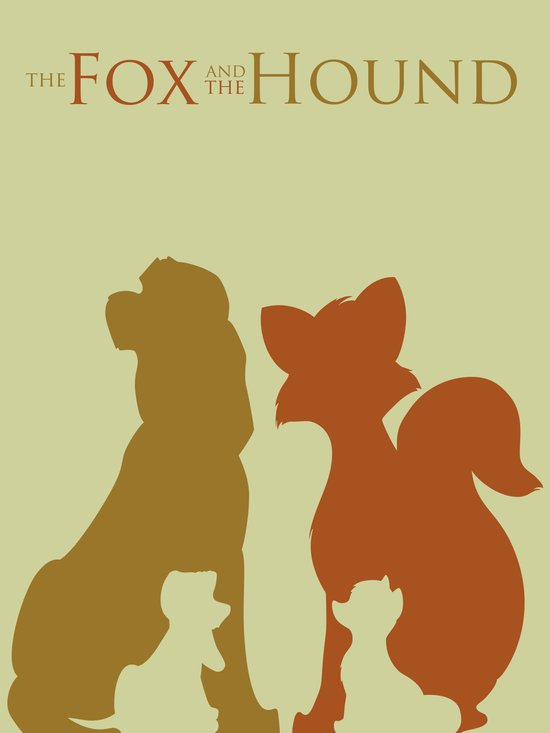 The Fox and The Hound Art Print