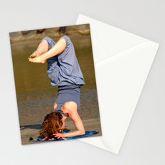 Yoga on Palolem Beach Stationery Cards