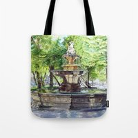 Old Fountain at Split, Croatia Tote Bag