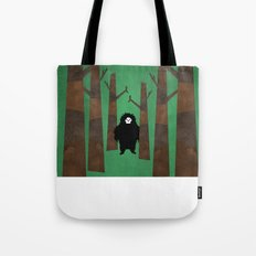 Sasquatch in Trees Tote Bag