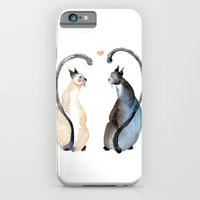 iPhone & iPod Case featuring Cat Love by Goosi