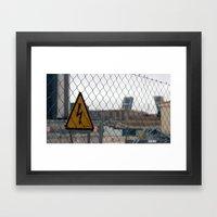 Danger Madrid Framed Art Print