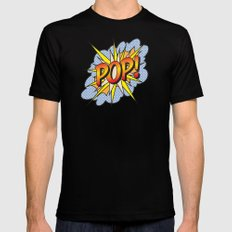 POP Art Exclamation Mens Fitted Tee Black SMALL