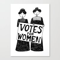 votes for women Canvas Print