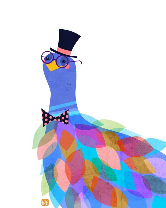 Gentleman Bird Art Print