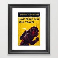 Space Suit Framed Art Print