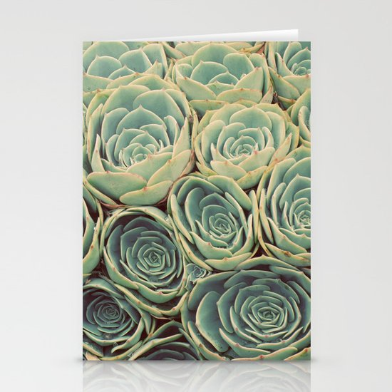 Sea of Succulents Stationery Card