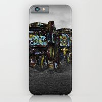iPhone & iPod Case featuring Cadillac Ranch by Claude Gariepy