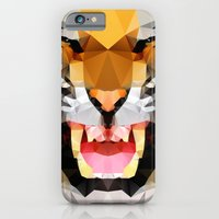 iPhone & iPod Case featuring Tiger - Geo by Three of the Possessed
