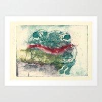 Toad Kisses  Art Print