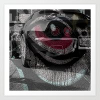 Eye of muscles Art Print