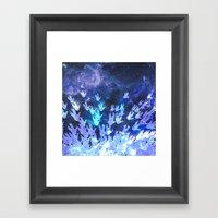 H.E.L.L.O. / blue version Framed Art Print