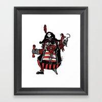 The Captain Pirate Inspi… Framed Art Print