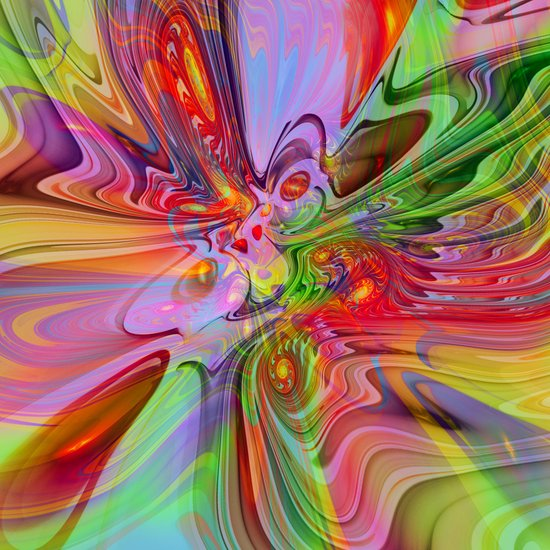 ABC / Abstract Butterfly Collection / 2 Art Print