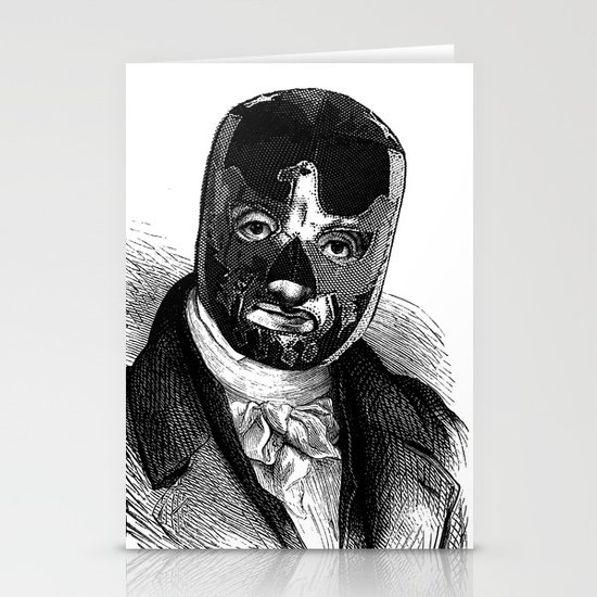 WRESTLING MASK 7 Stationery Card