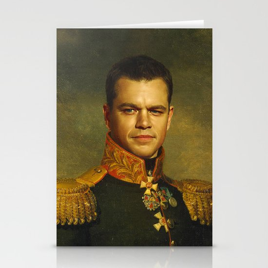 Matt Damon - replaceface Stationery Card