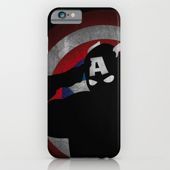 SuperHeroes Shadows : Captain America iPhone & iPod Case