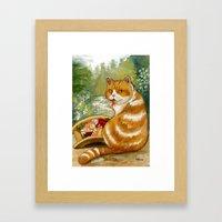 Sushi Cat Misty Bridge Framed Art Print