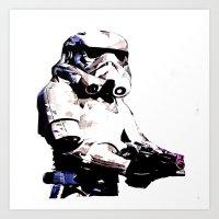 Paper Trooper Art Print