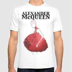 Alexander McQueen 2 White Mens Fitted Tee SMALL