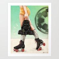 Skate Wars - Galactic Em… Art Print