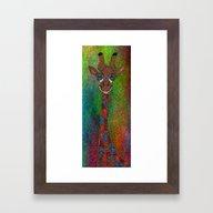 The Tall Giraffe Framed Art Print