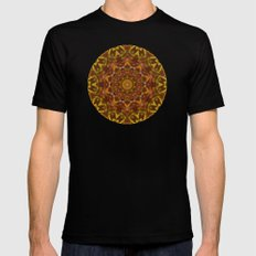 Leaves Black SMALL Mens Fitted Tee