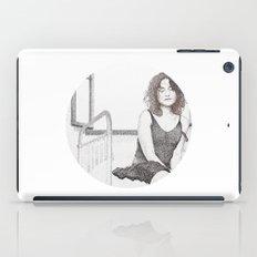 closed eyes - woman dotwork portrait iPad Case