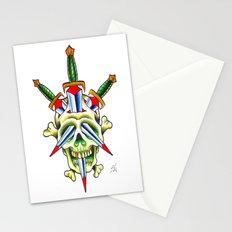 Skull & Dagger Stationery Cards