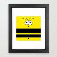 Minimal Bee Framed Art Print