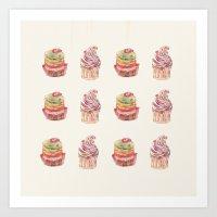 cake pattern Art Print