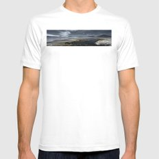 Red lagoon SMALL White Mens Fitted Tee