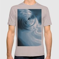 Blue Liquid Water Whirlpool Abstract Graphic Mens Fitted Tee Cinder SMALL