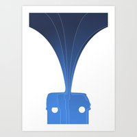 Silhouette Racers - Volk… Art Print