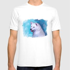 Akita SMALL White Mens Fitted Tee