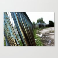 Blue Bars Canvas Print