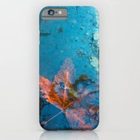 iPhone & iPod Case featuring Leaf in my Pond by CrismanArt
