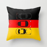 German Horsepower Throw Pillow