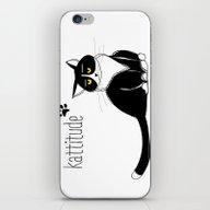 Kattitude iPhone & iPod Skin
