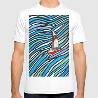 Wind Over Water Mens Fitted Tee White SMALL