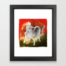 Woman & Chair Framed Art Print