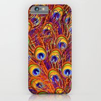 Peacock Feathers Colorful Pattern  iPhone 6 Slim Case