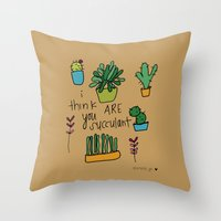 Plant Love. Throw Pillow