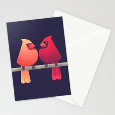 Northern Cardinals on a Japanese Maple Stationery Cards