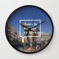 No Fear Wall Clock
