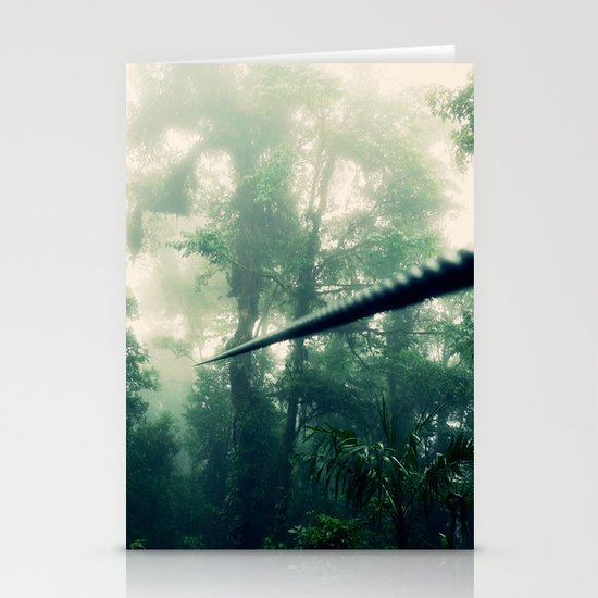 Zip Line Stationery Card