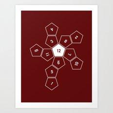 Unrolled D12 Art Print