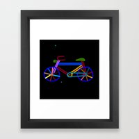 Bicycle rights Framed Art Print
