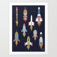 Rockets! Art Print