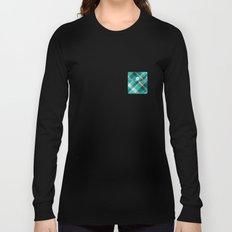 Plaid Pocket - Teal Blue/Green Long Sleeve T-shirt